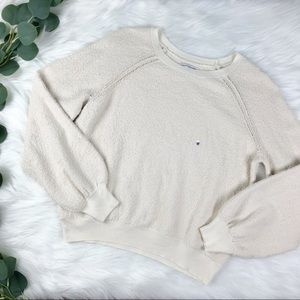 American Eagle; Beige Textured Sweater, NWT Size M